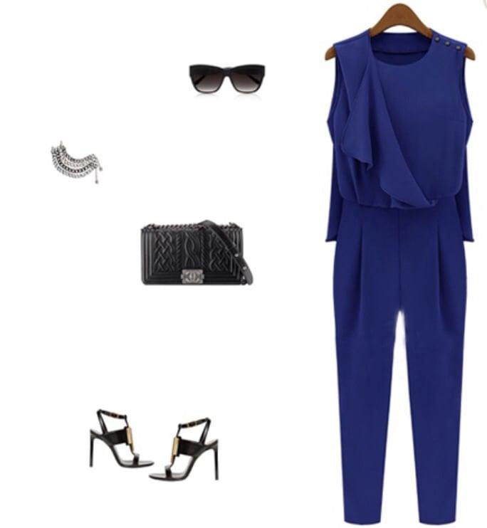 Image of Feelin' Blue Jumpsuit