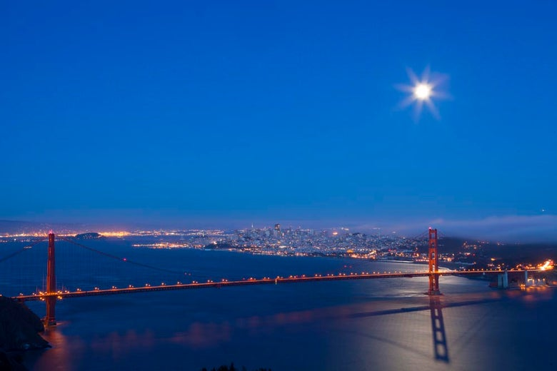 Image of SF Supermoon