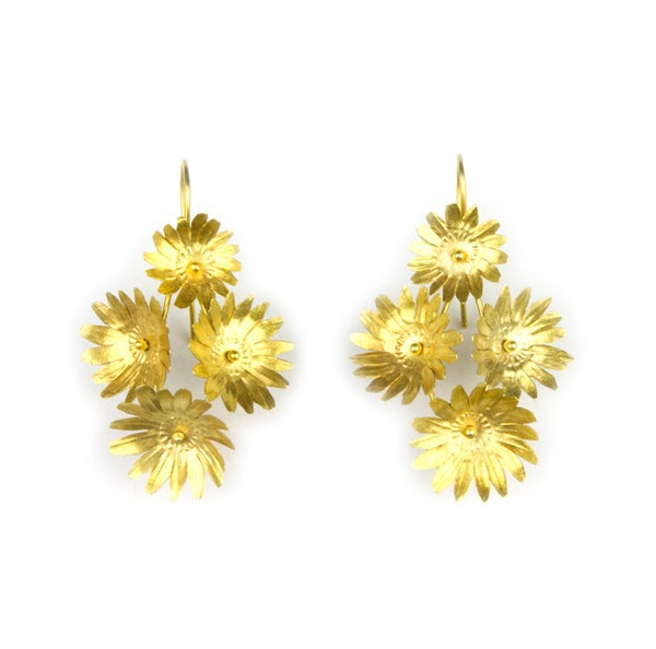 Image of Fiori Earrings - 4 - Vermeil