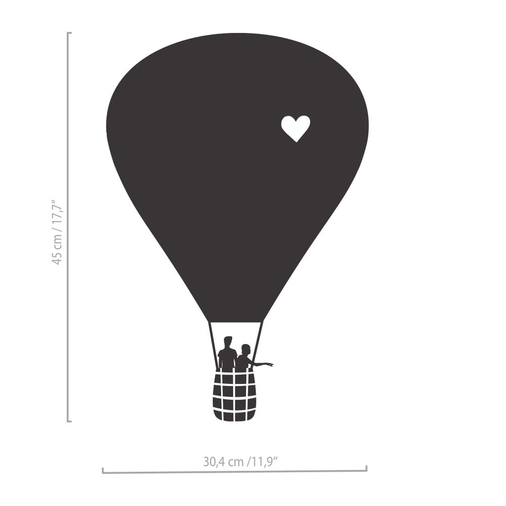 Image of Heißluftballon Wandtattoo mit Wolken