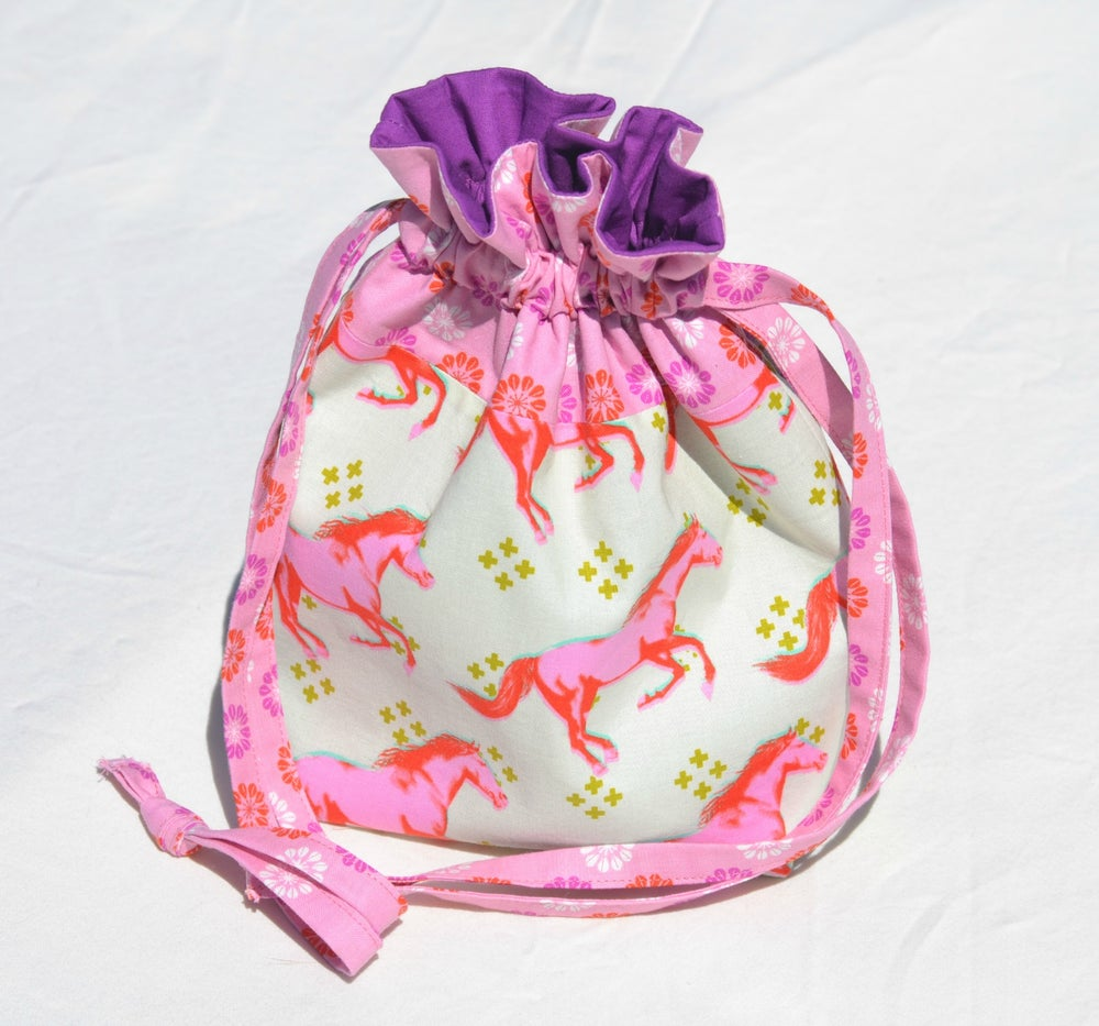 Image of Cotton + Steel Everything Drawstring Bag