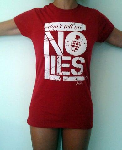"Image of Red ""No Lies"" t-shirt"