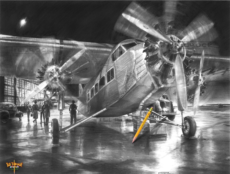 "Image of ""Tri-Motor"" Signed & Numbered 20x24 Giclee' Print"