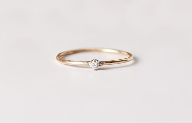 Image of Tiny Diamond Ring