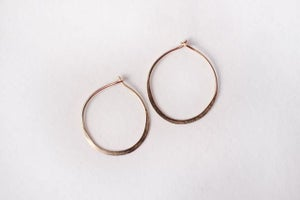 Image of Sml Solid Gold Hoops