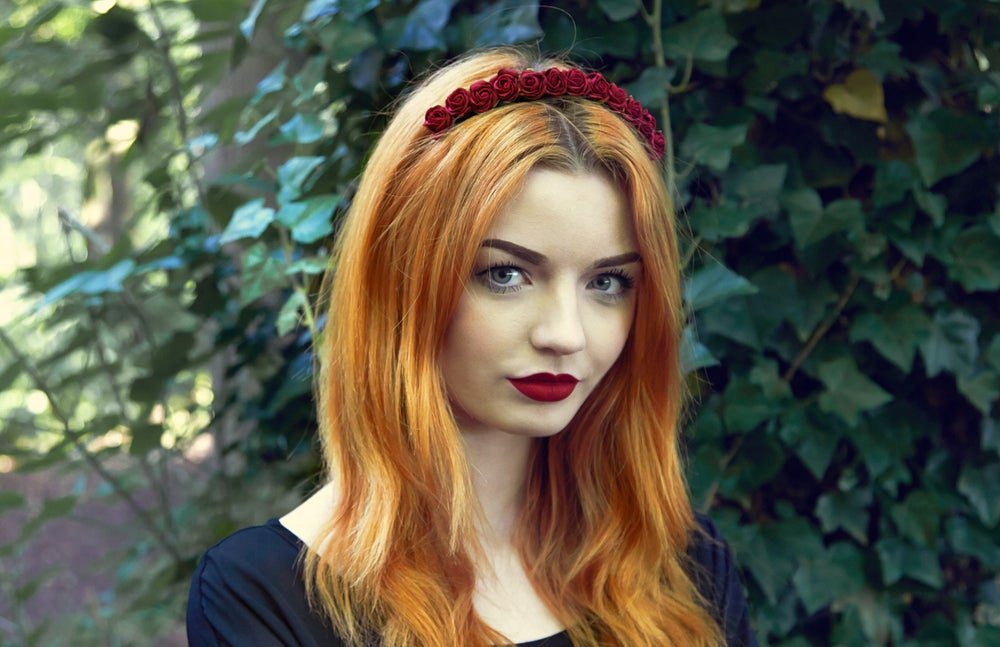 Image of Mini Rose Crown Burgundy