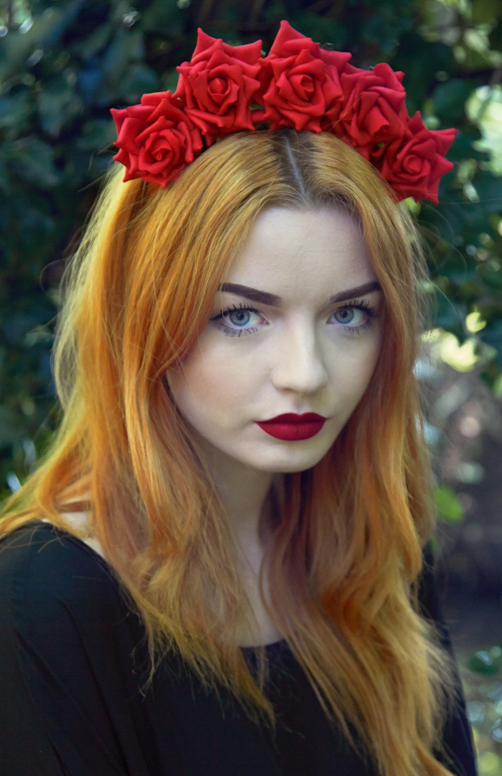 Image of Wild Rose Crown Crimson Red