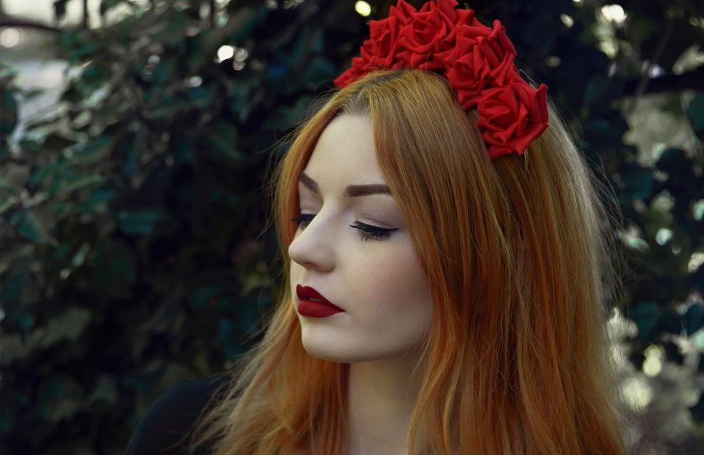 Image of Wild Rose Crown Crimson Red