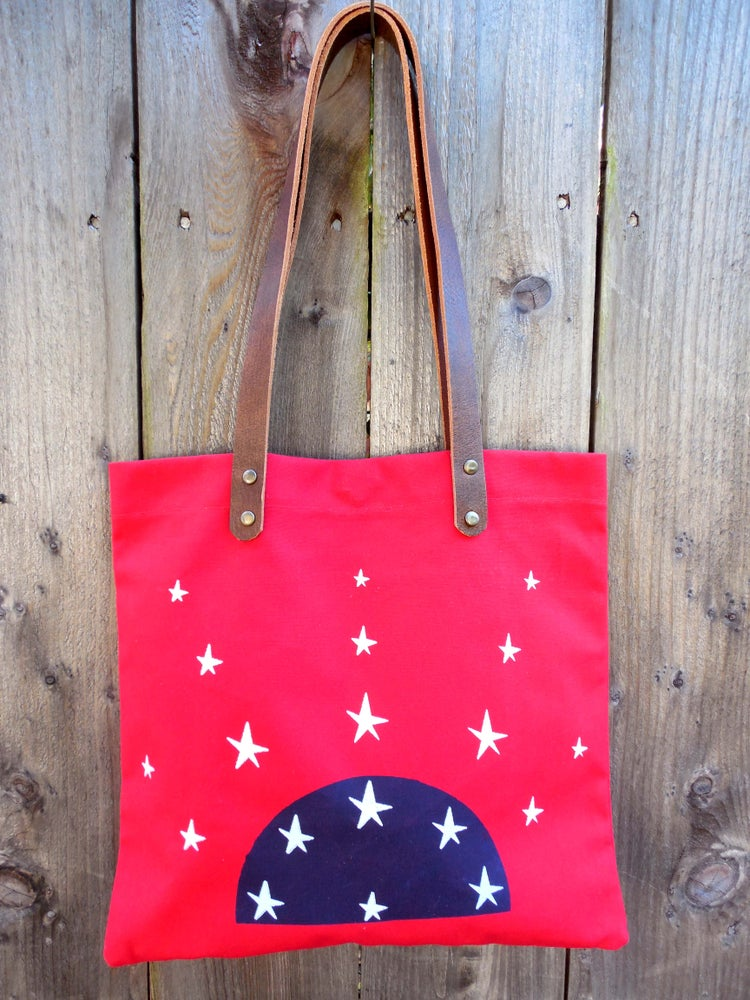 Image of Red Stars Tote -Stars Collection