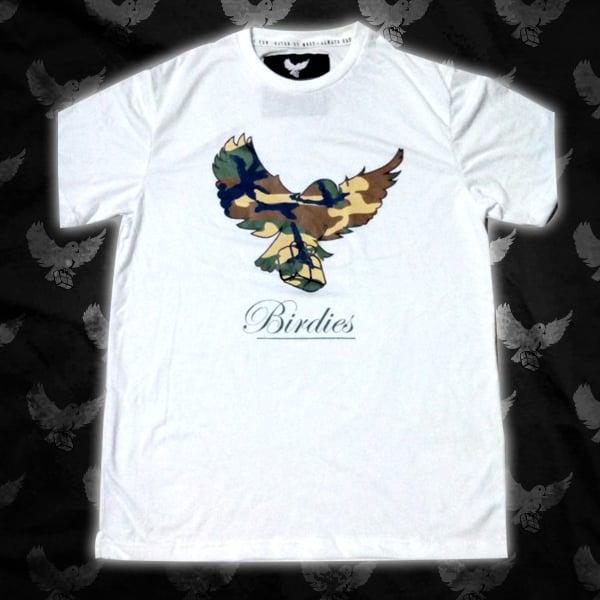 Image of White Camo Birdies T Shirt