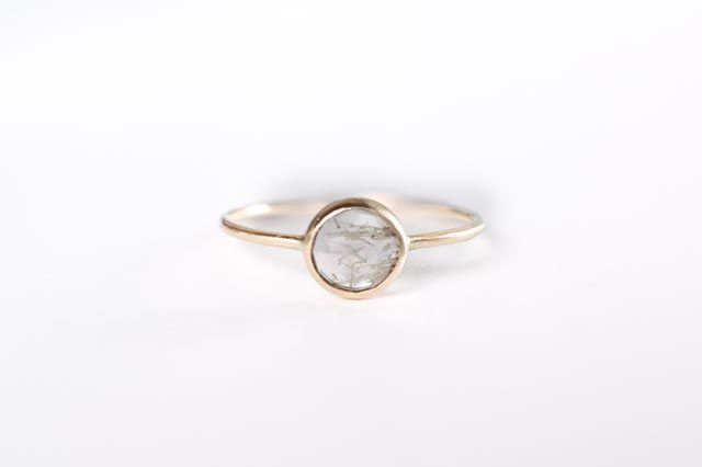 Image of Rutilated Quartz 14k Yellow Gold Ring