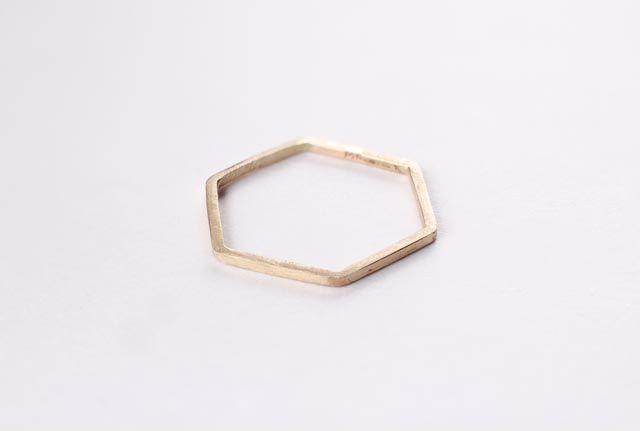 Image of Hexagon 14k Thin Band