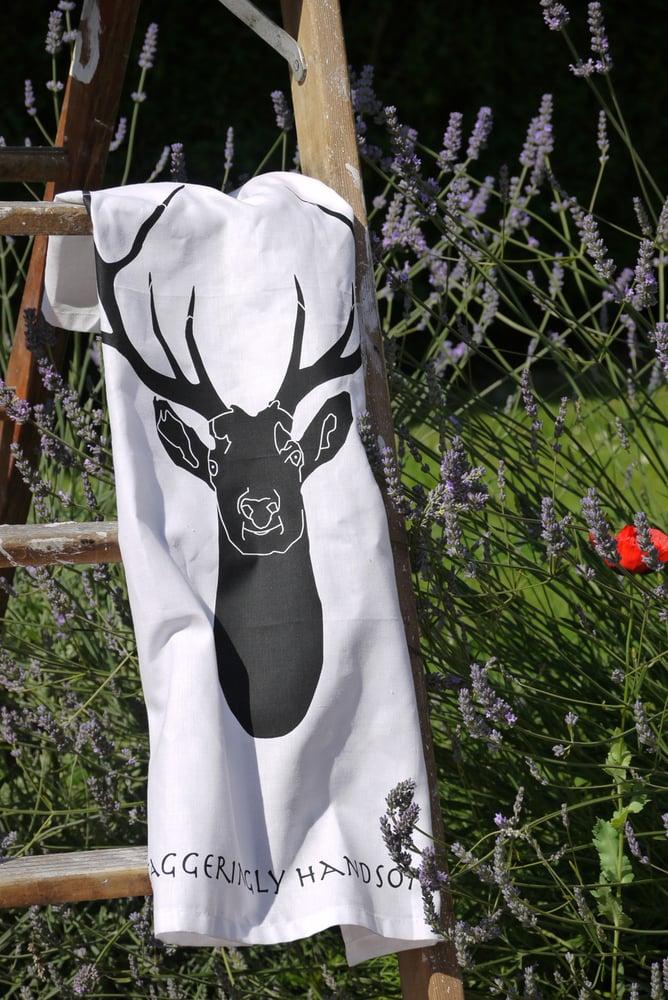 Image of Staggeringly Handsome Tea Towel-Black