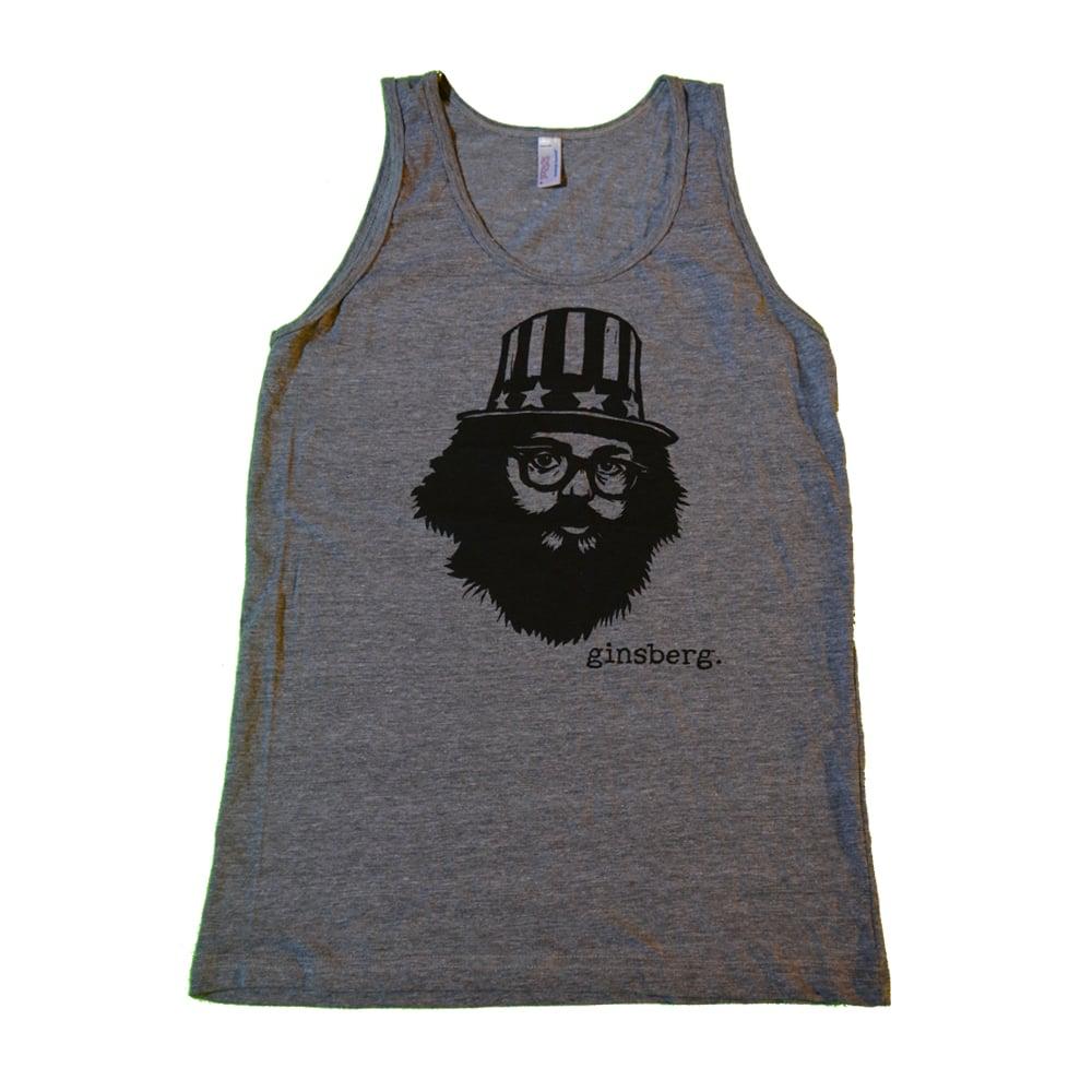 "Image of Allen Ginsberg - ""Uncle Sam"" Tank - Grey"