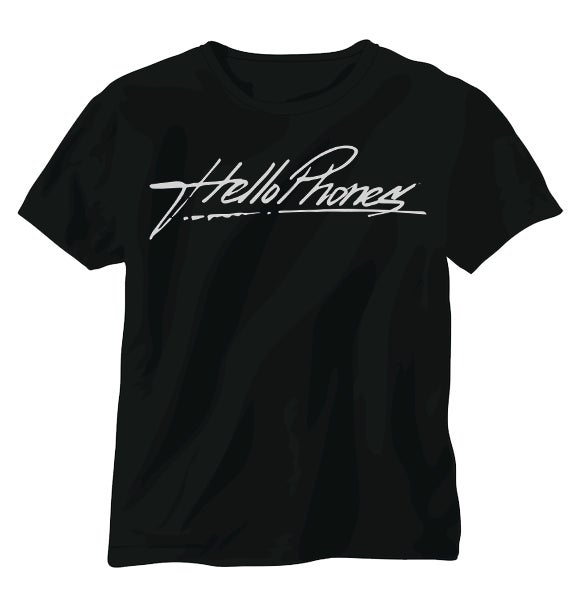 Image of Black Hello Phones Tee