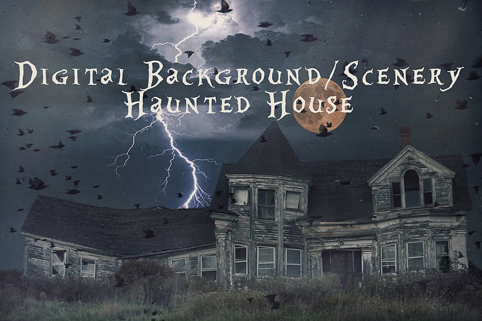 Image of Haunted House Digital Background/Digital Photo