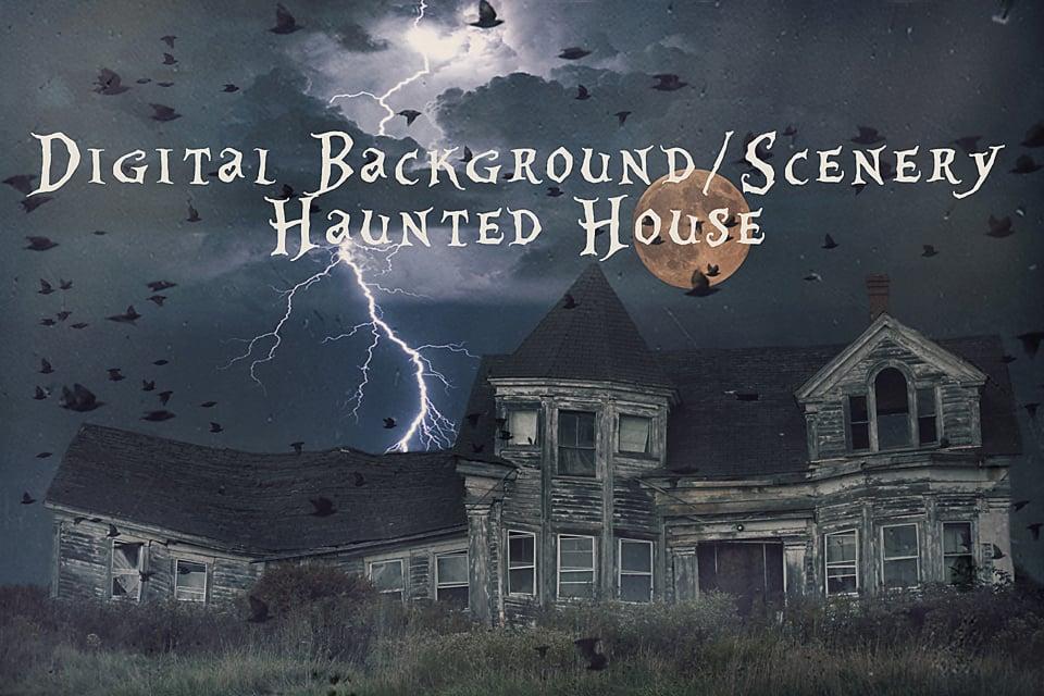 Image of Haunted House Digital Background