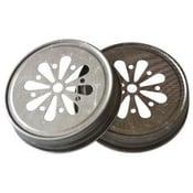 Image of Rustic Silver Mason Jar Lids