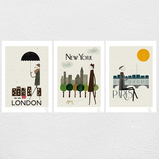 Image of Cities Set of three Prints