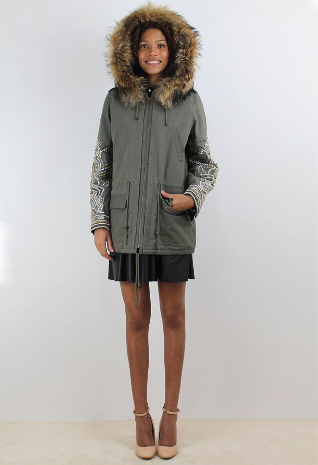 Image of EMBROIDERY PARKA