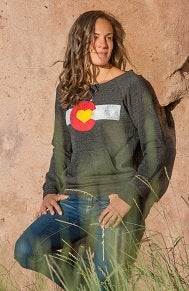 Image of Colorado Love Slouchy Sweatshirt - Charcoal