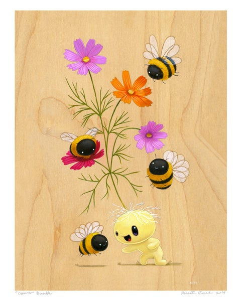 "Image of ""Cosmo Bumble"" Giclee Print"