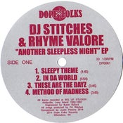 "Image of DJ STITCHES & RHYME VALORE ""ANOTHER SLEEPLESS NIGHT"" EP"