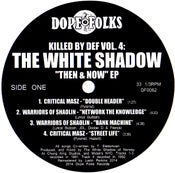 "Image of KILLED BY DEF Vol.4: THE WHITE SHADOW ""THEN & NOW"""
