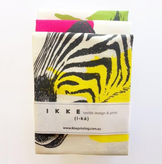 Image of Linen tea towel Zebra