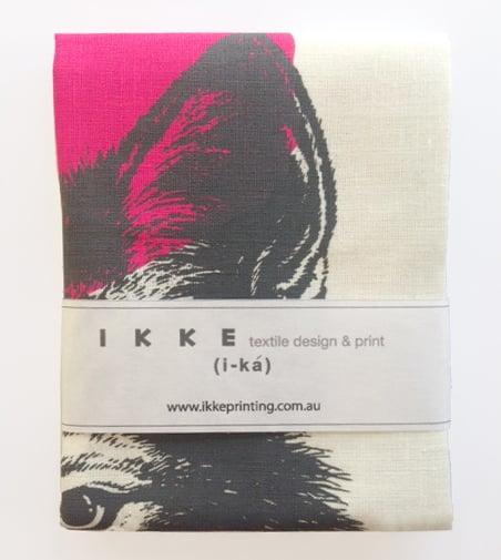 Image of Linen tea towel Wolve