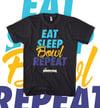 Pinkingz Bowling EAT SLEEP BOWL REPEAT T-Shirt