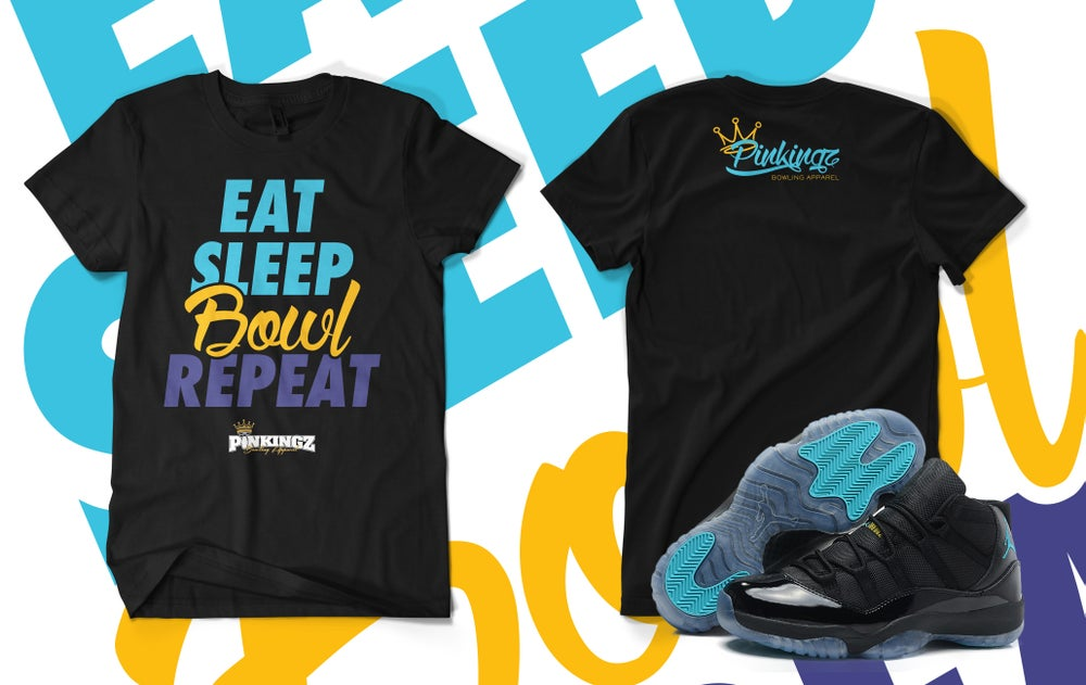 Image of Pinkingz Bowling EAT SLEEP BOWL REPEAT T-Shirt