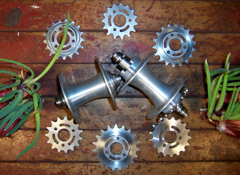 Image of Hubs, Level 32˚ Fixed Gear with 2 Bolt-On Cogs (your choice)