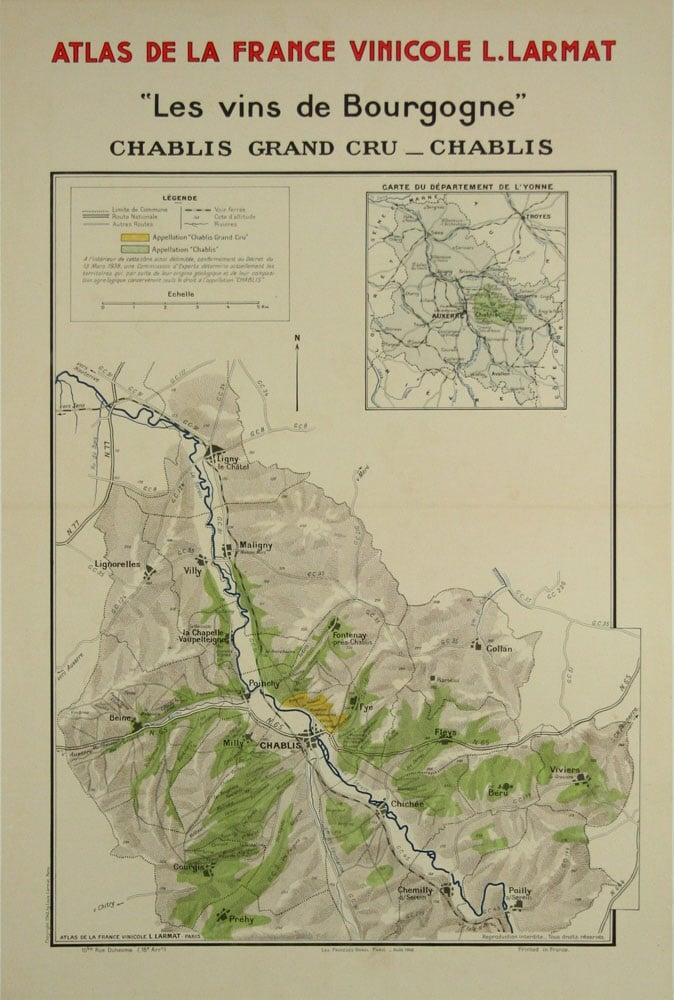 Map Of Yonne France.Atlas De La France Vinicole Les Vins De Bourgogne Chablis