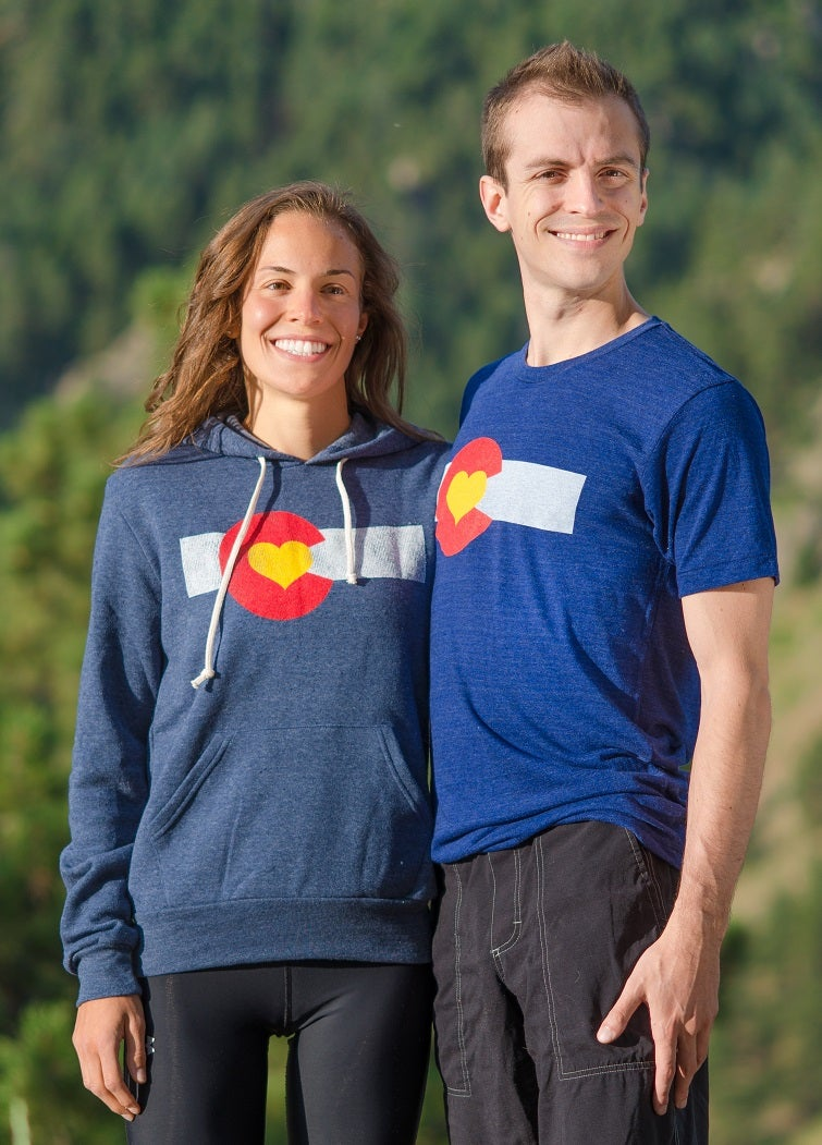 Image of Colorado Love Pullover Hoodie-Navy