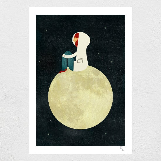 Image Of On The Moon Print