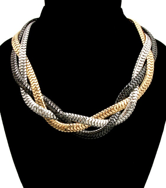 Image of Twisted Snake Chain Necklace