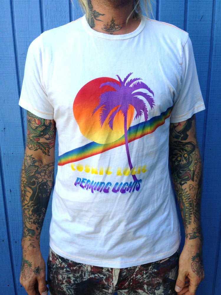 Image of SALE! Timeless 'Cosmic Logic' t shirt design collab with Mowgli Surf Wear!