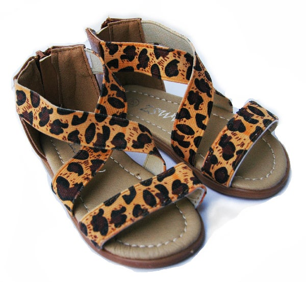 Image of Leopard Baby Girls Sandals