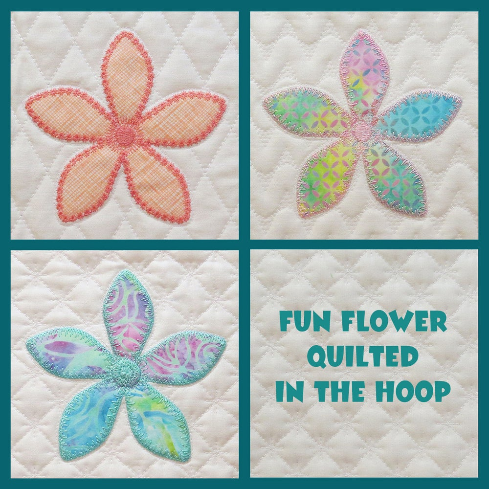 Image of Fun Flower Quilted In The Hoop