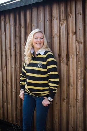 Image of Adult Long Sleeve Rugby shirt - Hooped