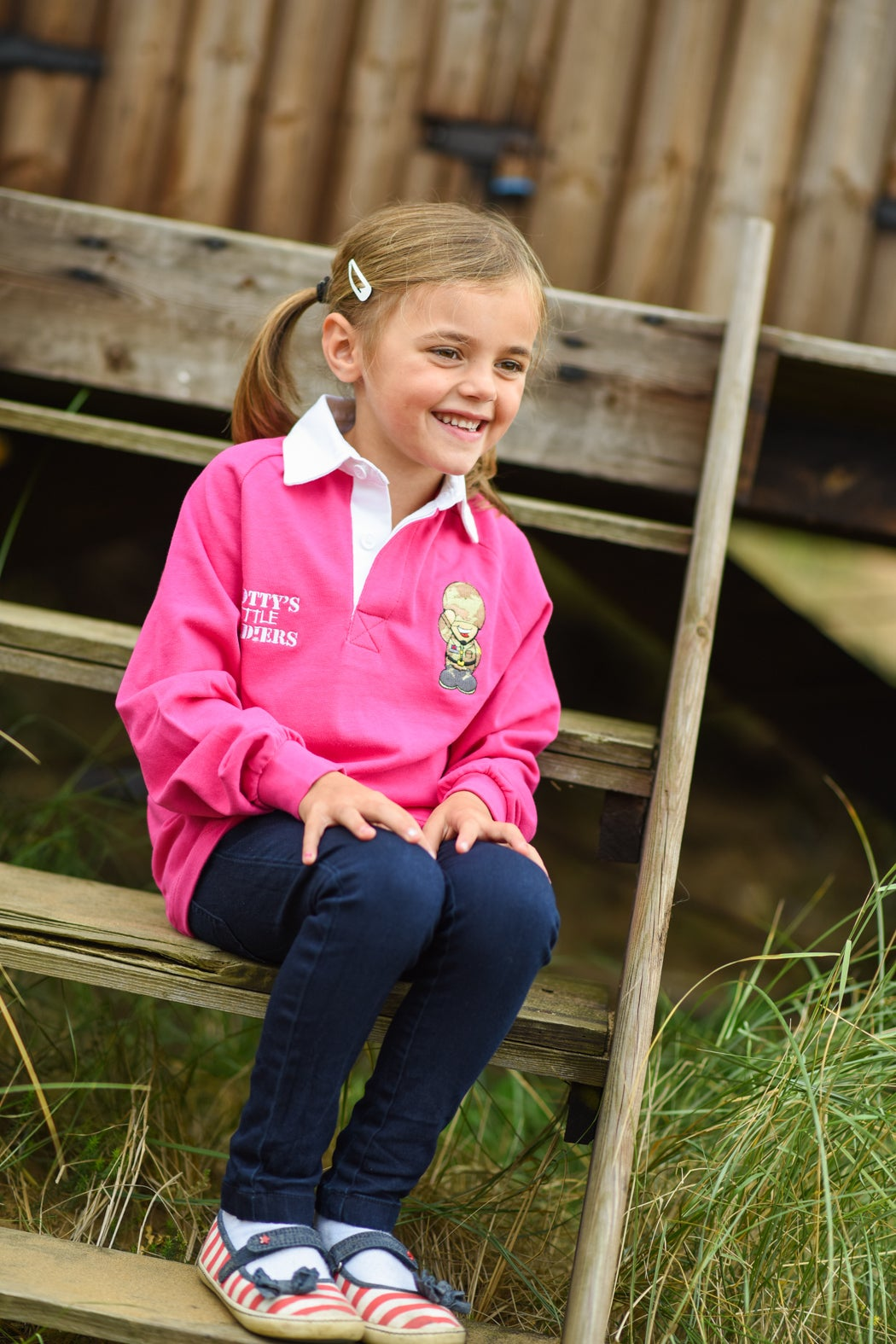 Image of Kids Rugby Shirt - Pink