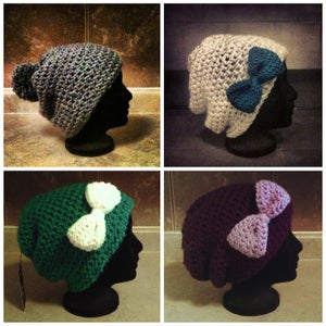 Image of The Lucy Toque with Pom Pom or Bow
