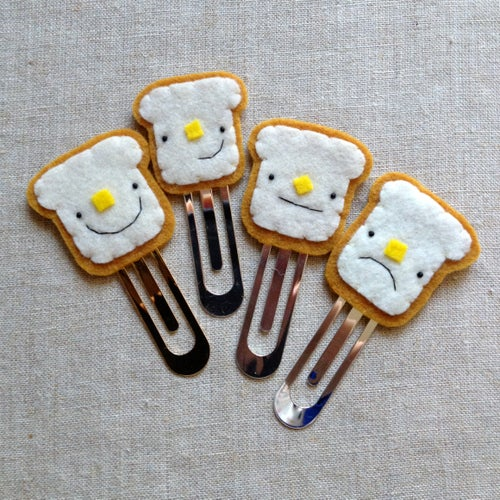Image of buttered toast bookmarks // made to order