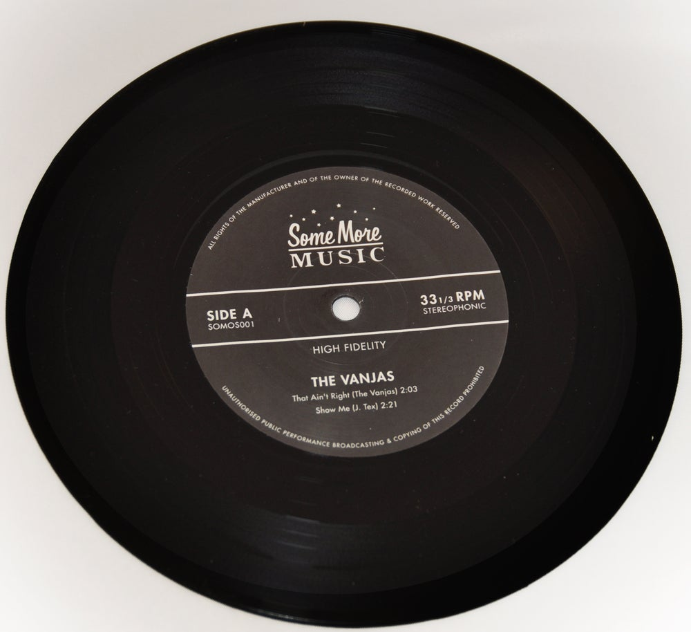 "Image of 7"" EP - The Vanjas 4-raw cuts"