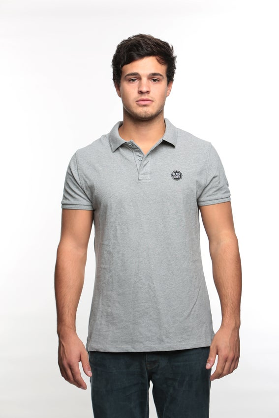 Image of Gris chiné - polo homme