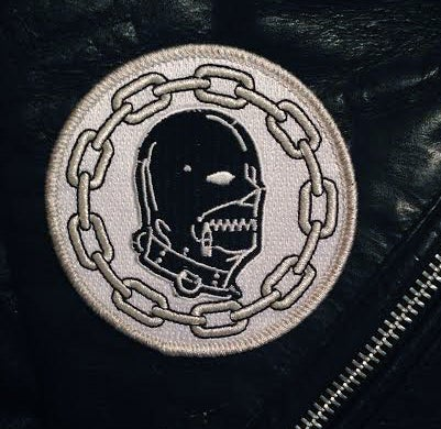 Image of embroidered GIMP MASK & CHAIN patch