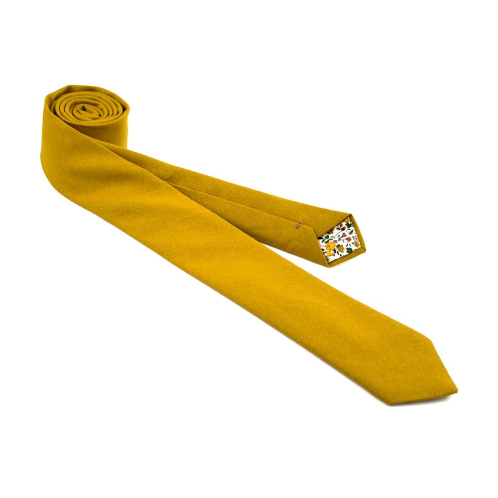 Image of Mustard Linen Necktie