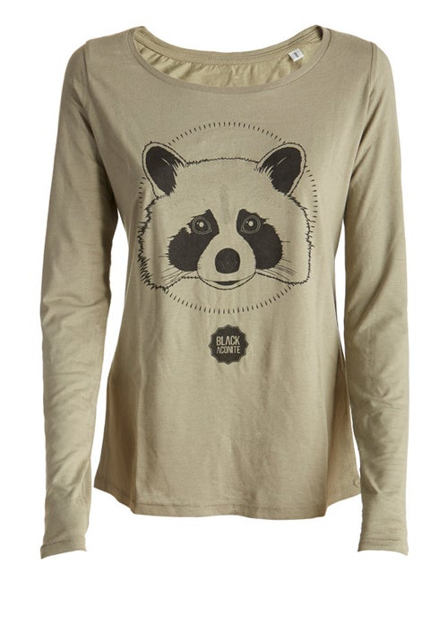 Image of Racoon - tee-shirt col rond femme