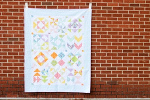 Image of Half-Square Triangle Sampler Quilt PAPER Pattern